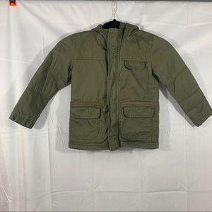 🎀Cat&jack green Sherpa lined kids coat